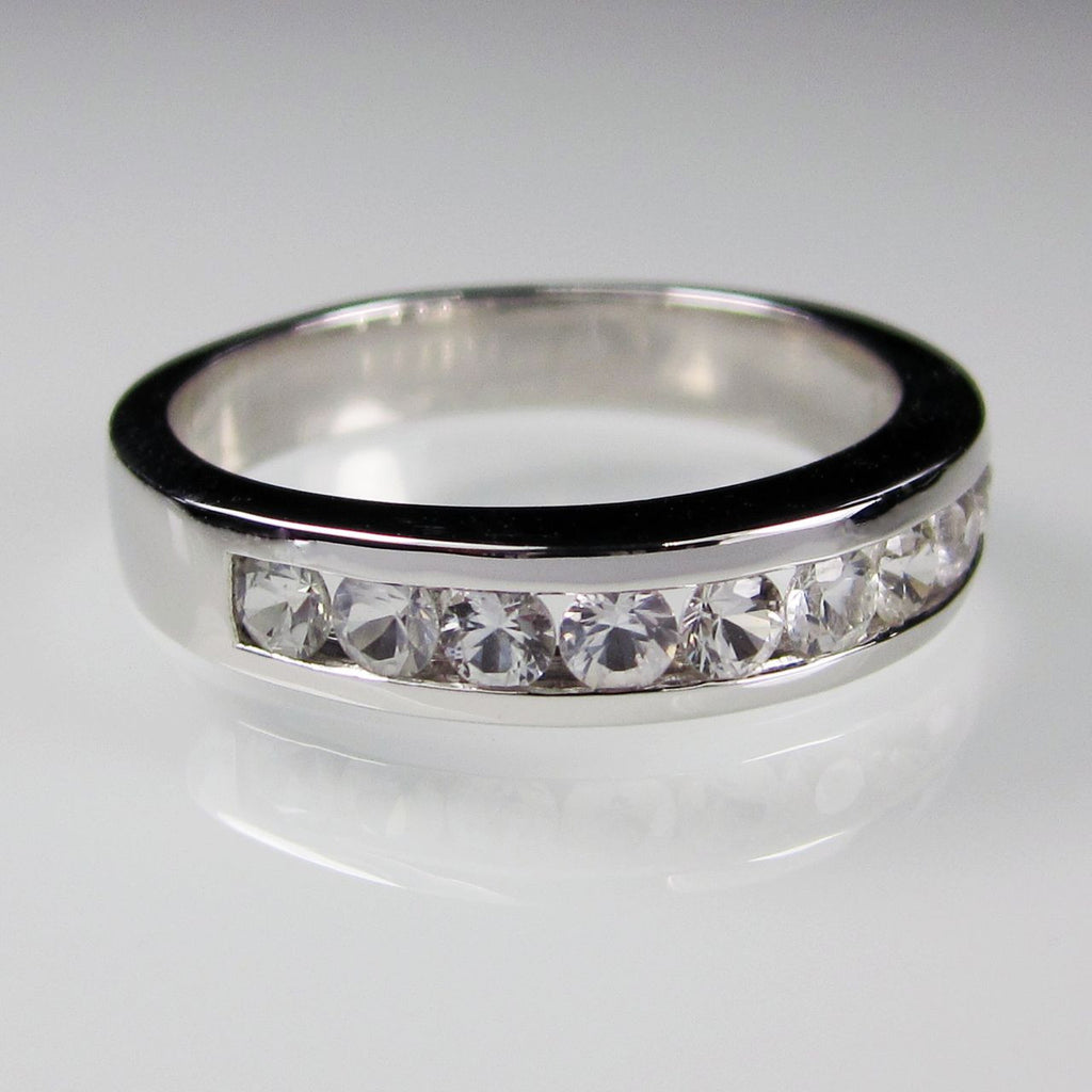 Orah London Eternity ring with white sapphires