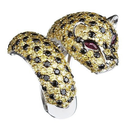 Orah London Golden Leopard Ring