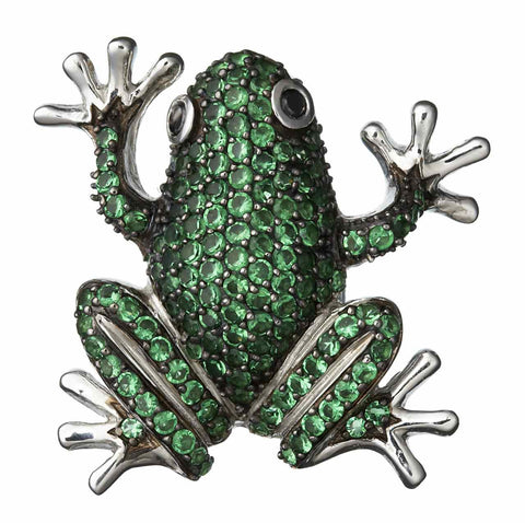Green Frog Pendant-Brooch