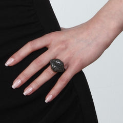 Orah London Black Lips Ring