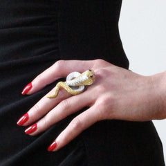 Orah London Golden Cobra Ring