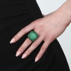 Orah London Green Dome Ring