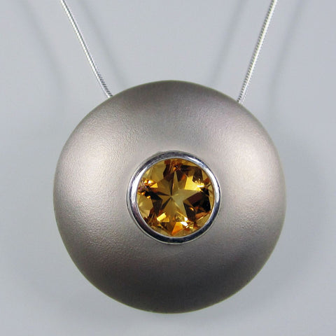 Hermes Pendant with Citrine