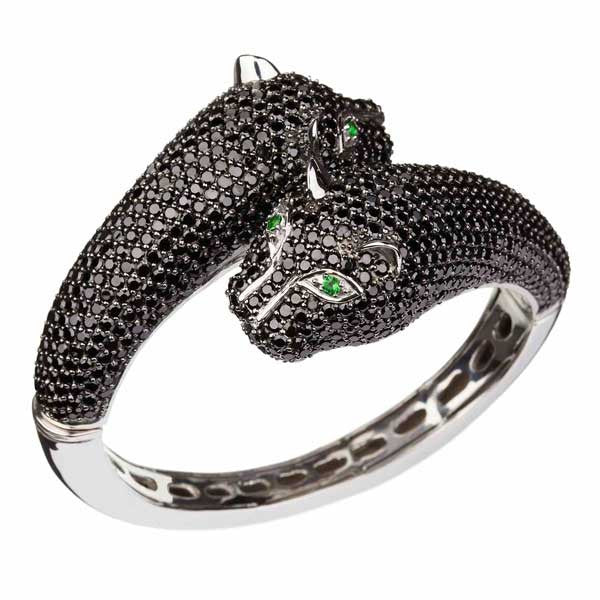 Orah London Large Black Leopard Bracelet