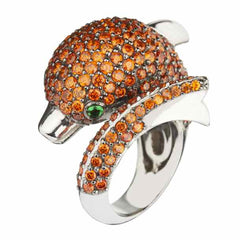 Orange Dolphin Ring