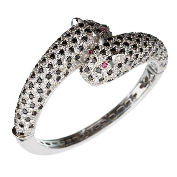 Orah London Slim Snow Leopard Bracelet