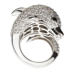 Snow Dolphin Ring