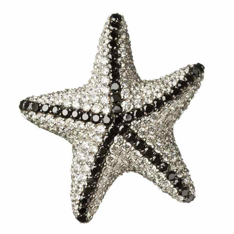 Snow Starfish Pendant-Brooch