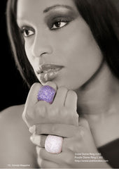 Orah London Purple Dome Ring