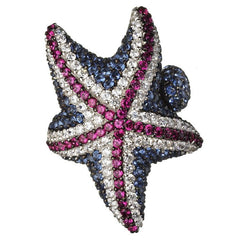 Orah London Union Jack Starfish Ring