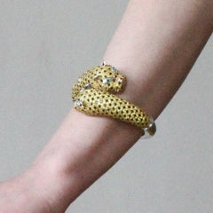 Orah London Large Golden Leopard Bracelet