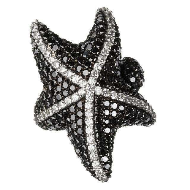 Orah London Black Starfish Ring