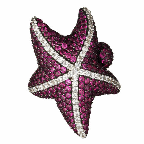 Pink Starfish Ring