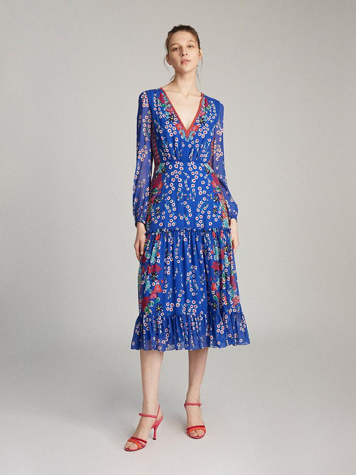Load image into Gallery viewer, Devon Dress in Cobalt Eden