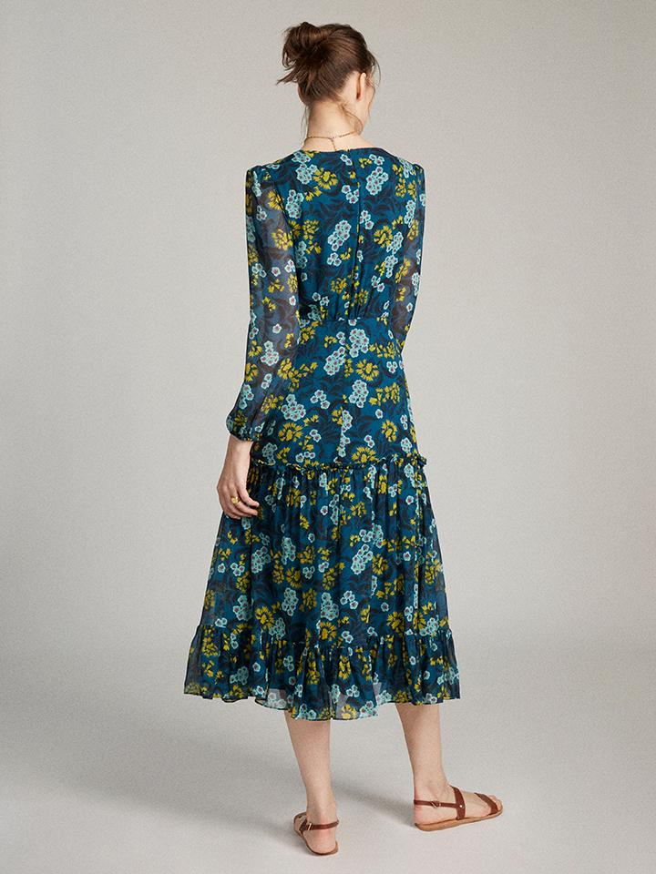 Load image into Gallery viewer, Devon Dress in Teal Azalea
