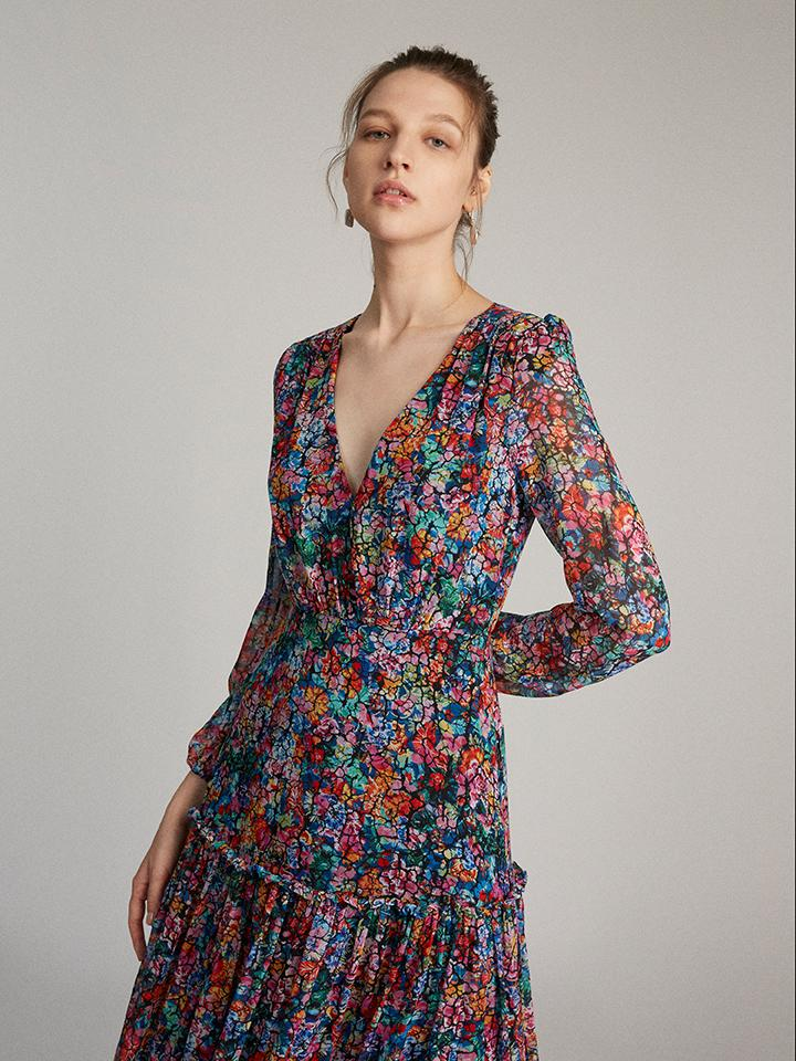 Load image into Gallery viewer, Devon Dress in Crackle Bloom