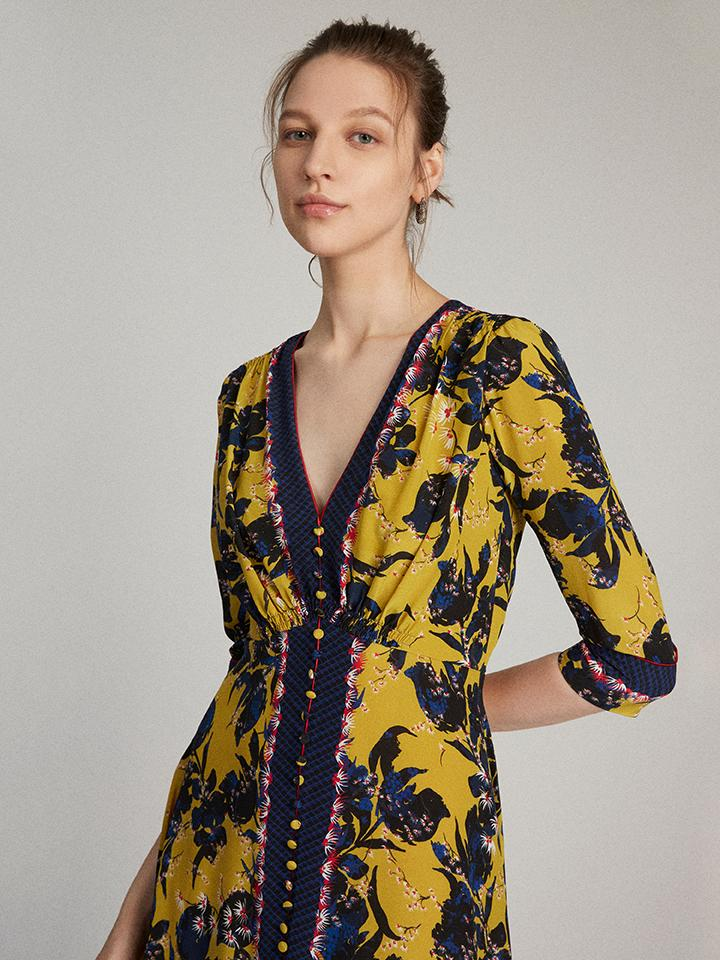 Load image into Gallery viewer, Eve Dress in Citronelle print