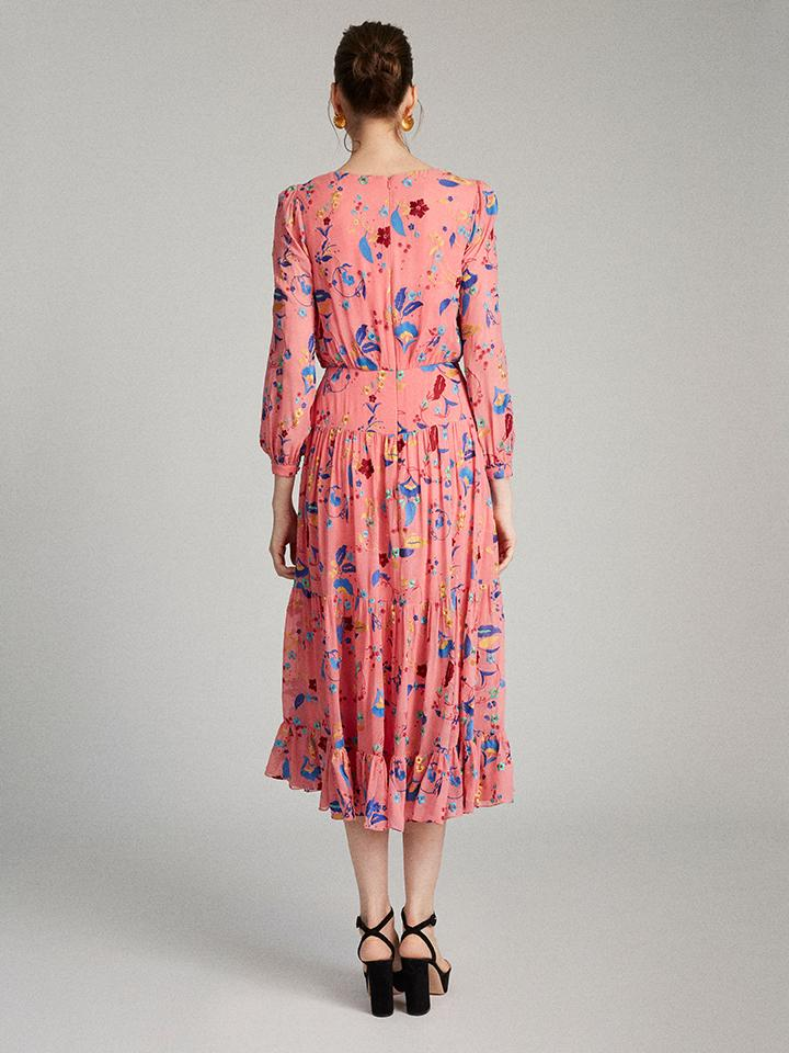 Load image into Gallery viewer, Isabel Dress in Rose Holi Vines