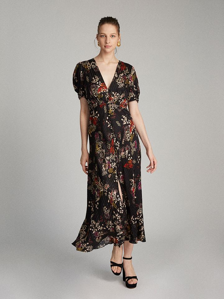 Load image into Gallery viewer, Lea Long dress in Efflorescence