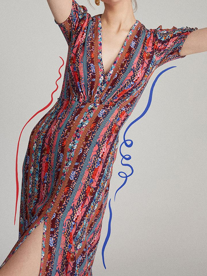 Load image into Gallery viewer, Lea Dress in Paradise Stripe