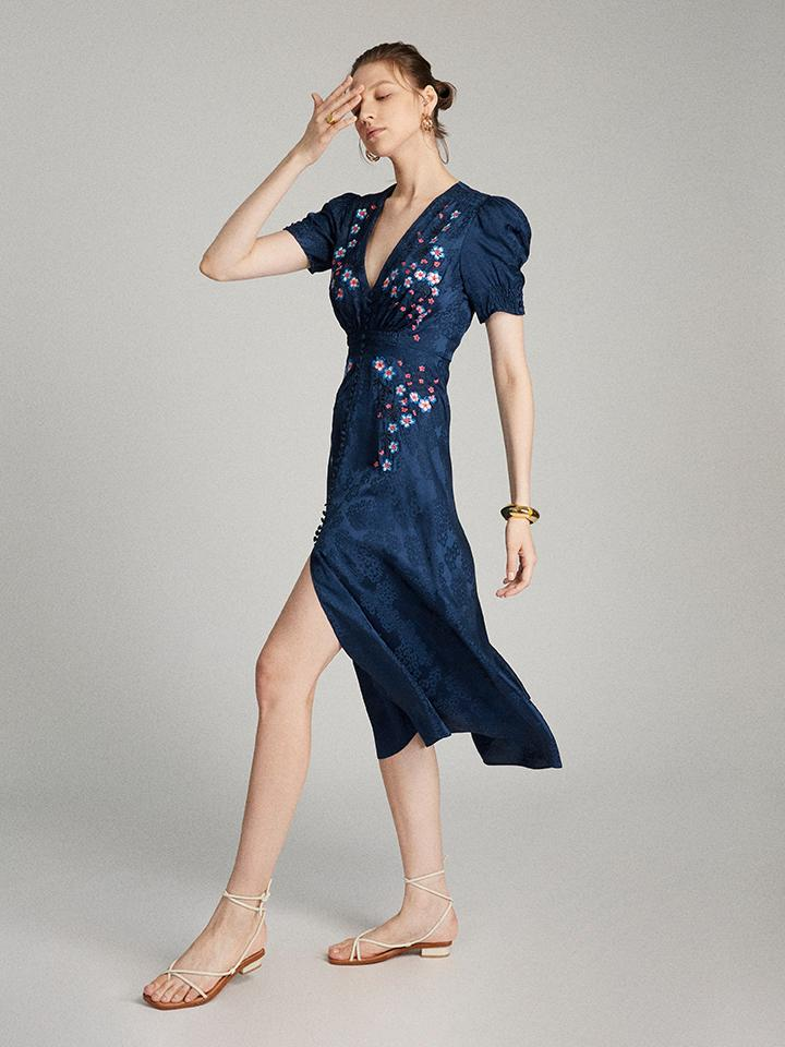 Load image into Gallery viewer, Lea Dress in Navy