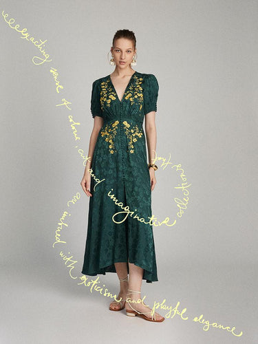 Lea Long Dress in Forest