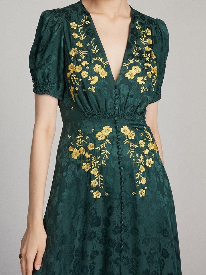 Load image into Gallery viewer, Lea Long Dress in Forest