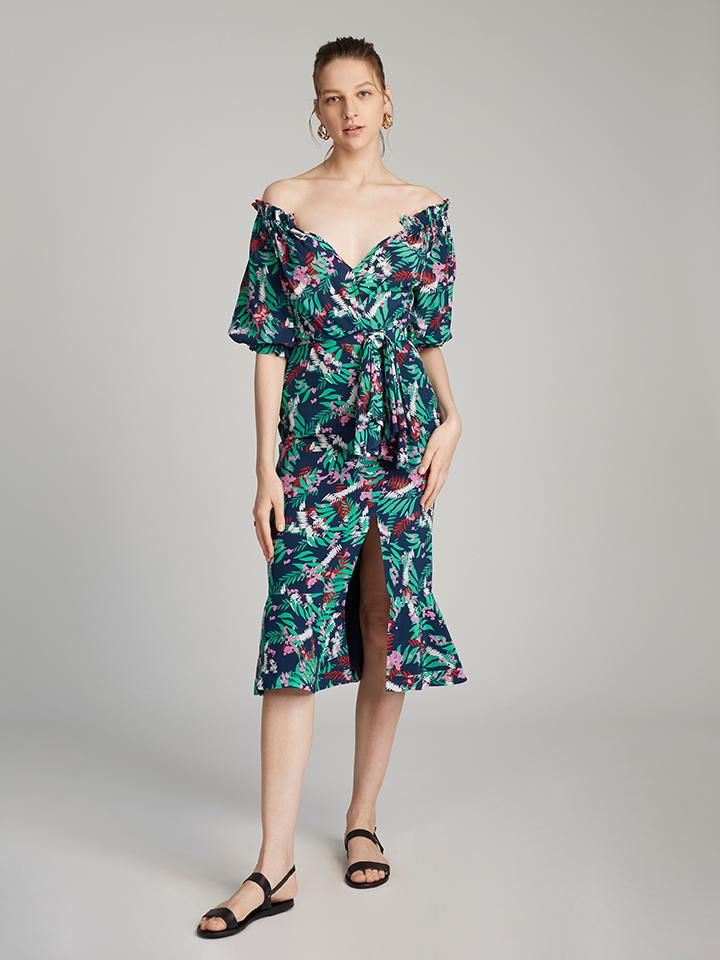 Load image into Gallery viewer, Olivia Dress in Midnight Fern