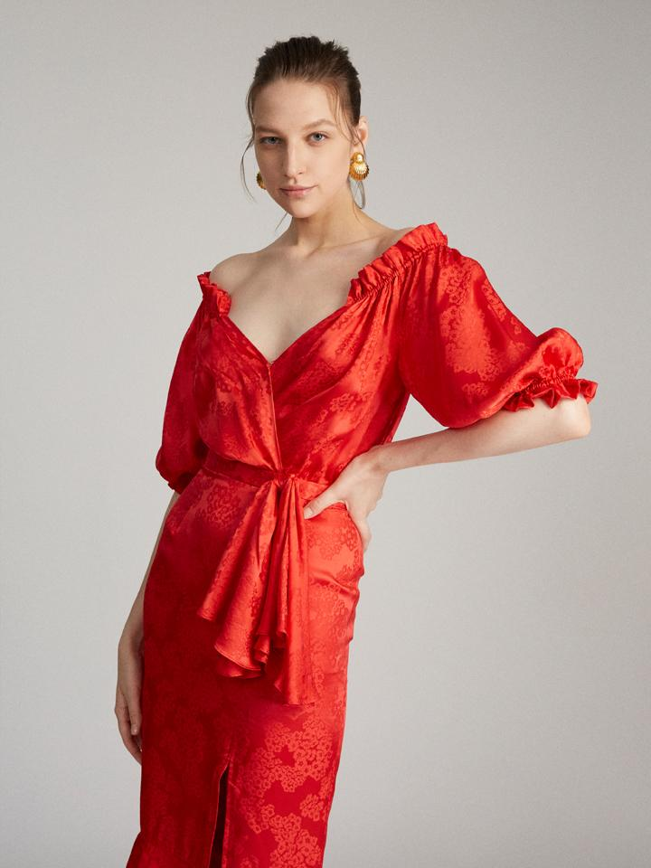 Load image into Gallery viewer, Olivia Dress in Scarlet