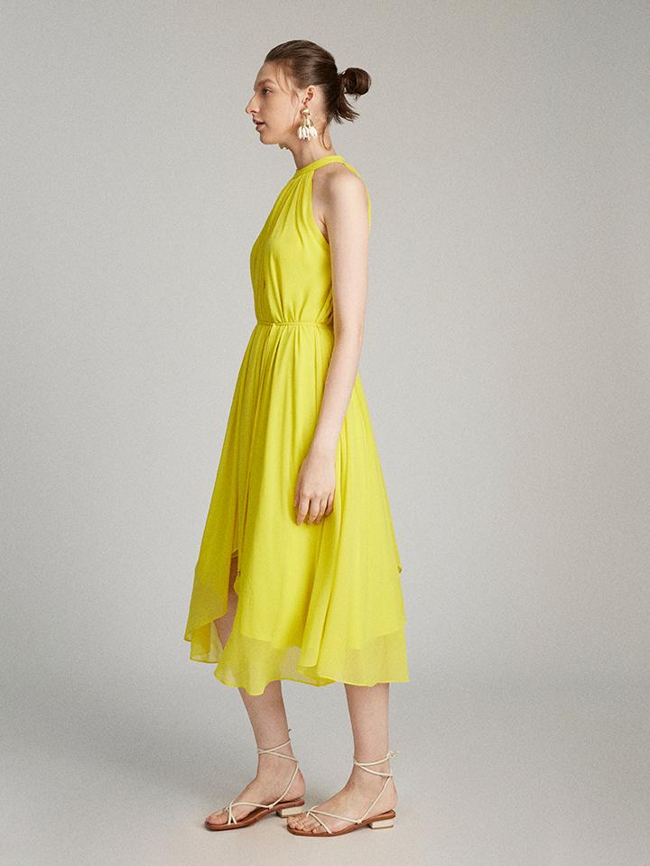 Load image into Gallery viewer, Iris Dress in Bright Lemon