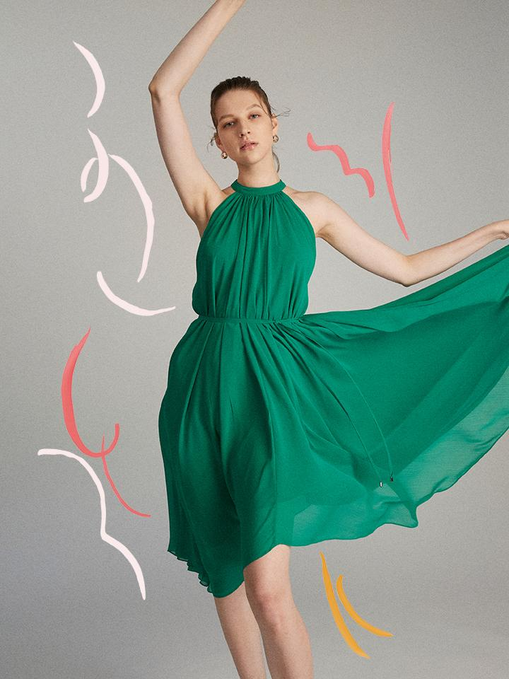 Load image into Gallery viewer, Iris Dress in Kelly Green