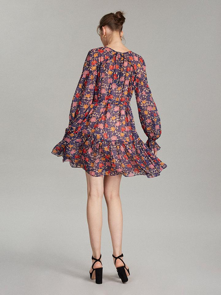 Load image into Gallery viewer, Pixie Dress in Lotus Lake print