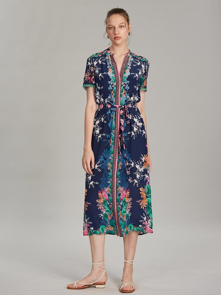 Load image into Gallery viewer, Vicki Dress in Lily Lake print