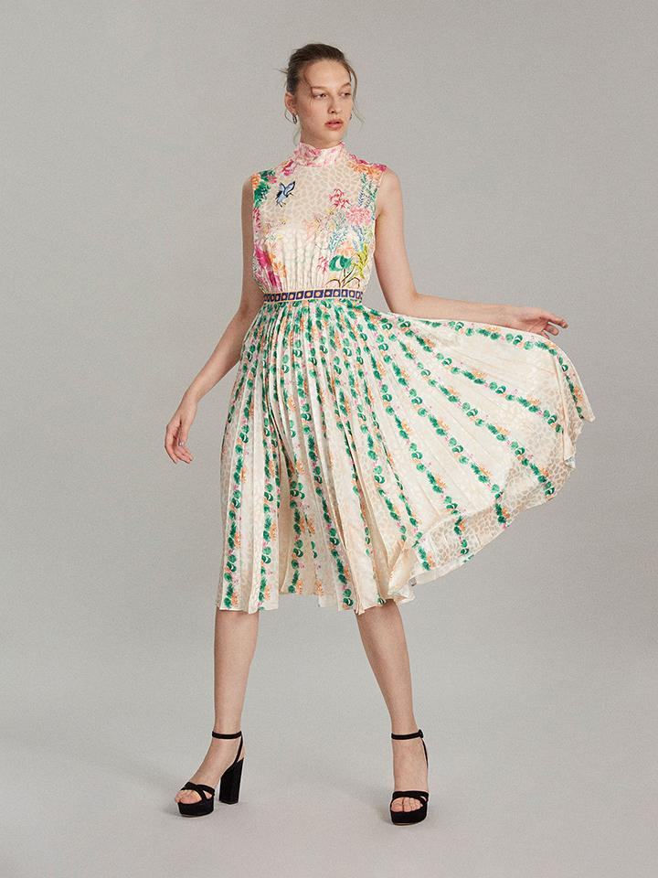 Fleur-E Dress in Eastern Falls print