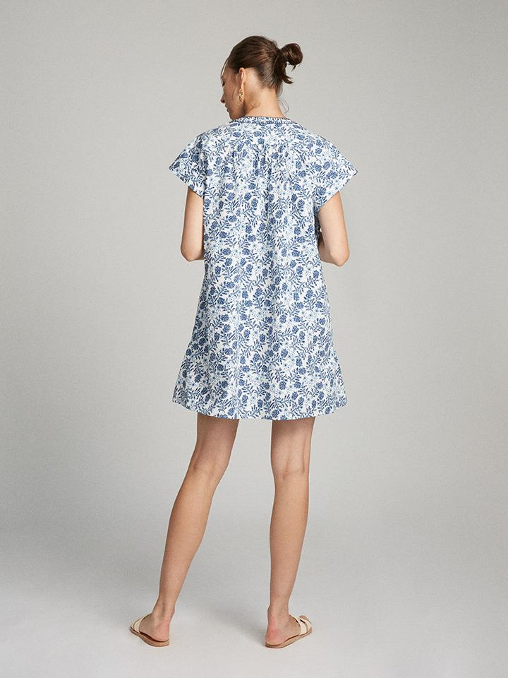 Load image into Gallery viewer, Ashley-B Dress in Porcelain Clover print