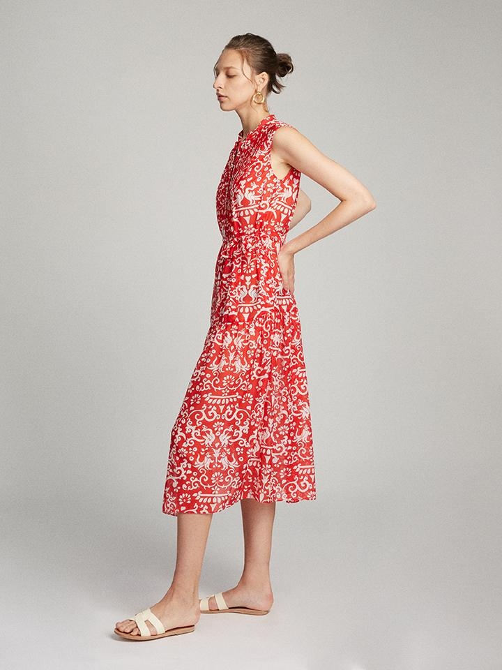 Load image into Gallery viewer, Remi Dress in Chilli Phoenix print