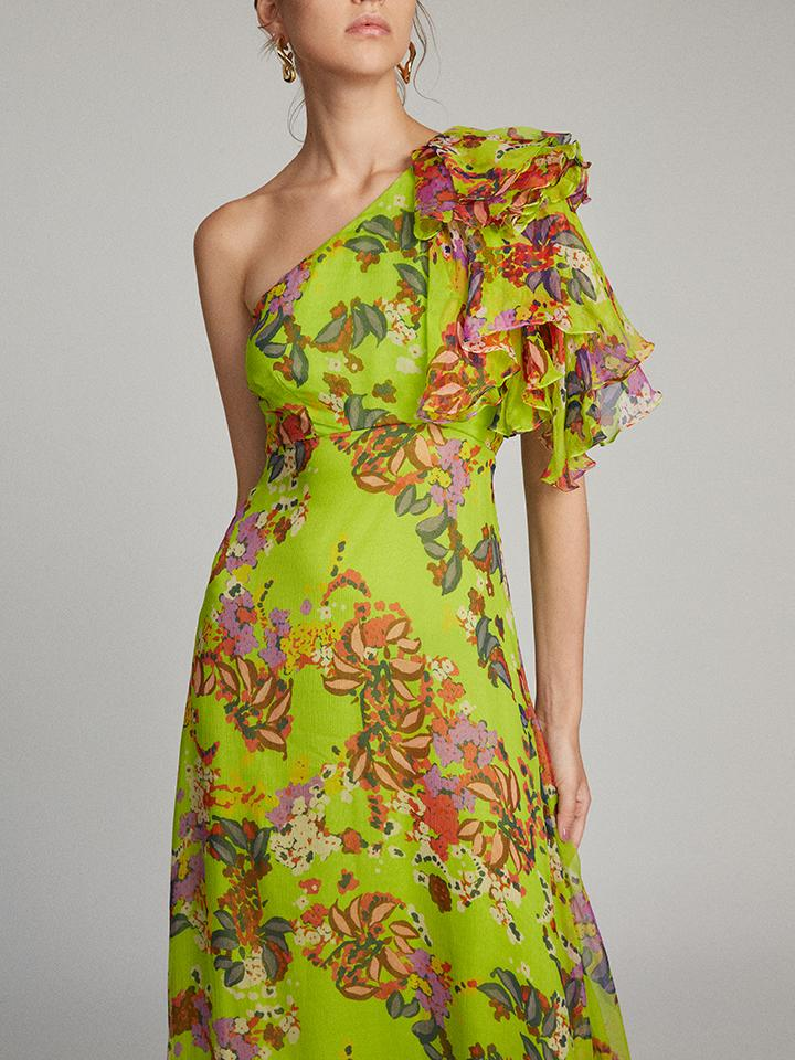 Load image into Gallery viewer, Danielle Dress in Lime Begonia
