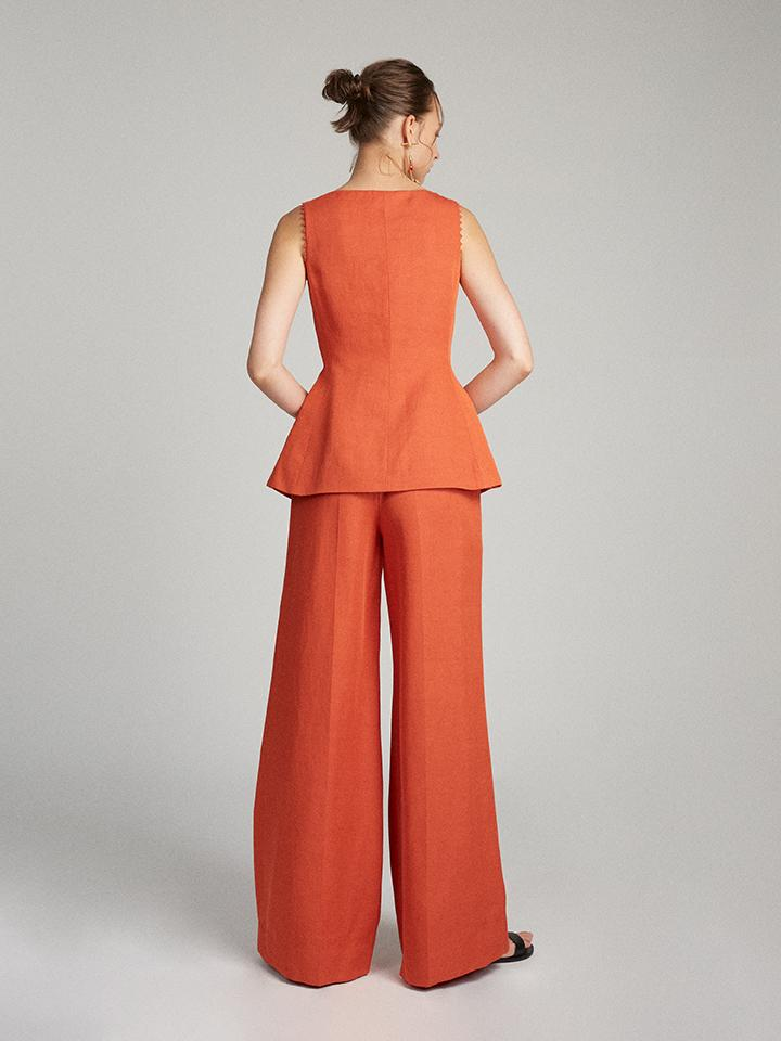 Load image into Gallery viewer, Bibba Sleeveless Jacket in Terracotta
