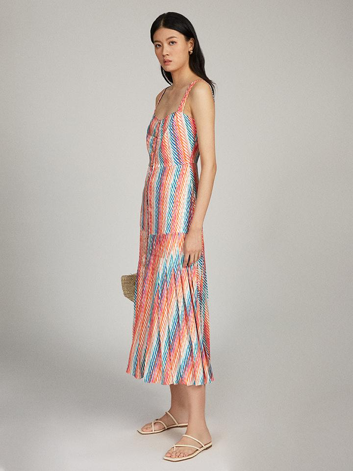 Load image into Gallery viewer, Karen Dress in Candy Oblique print