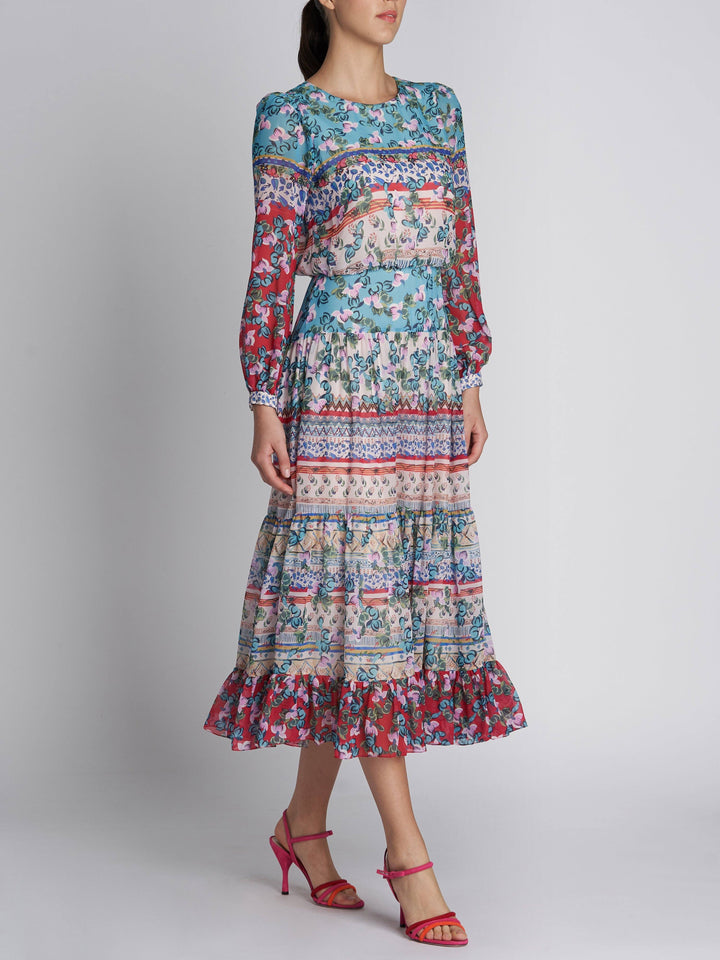 Load image into Gallery viewer, Isabel Dress Cascade PLMT