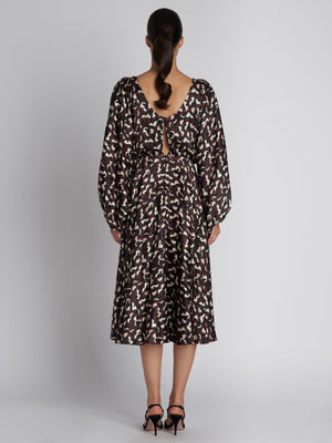 KIM B NOIR DAYBREAK SILK DRESS