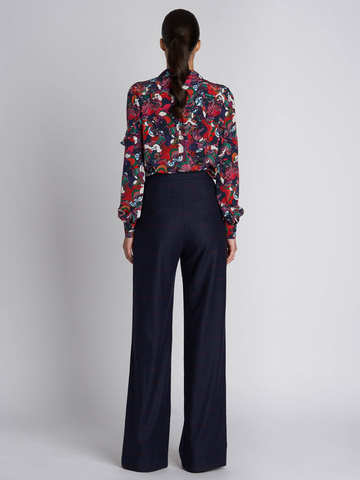 Load image into Gallery viewer, Mara Open Check Wool Trousers