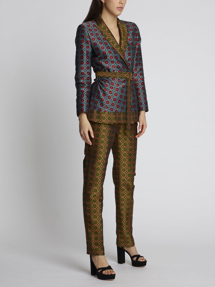 Load image into Gallery viewer, Maxima Topaz Floral Brocade Trousers
