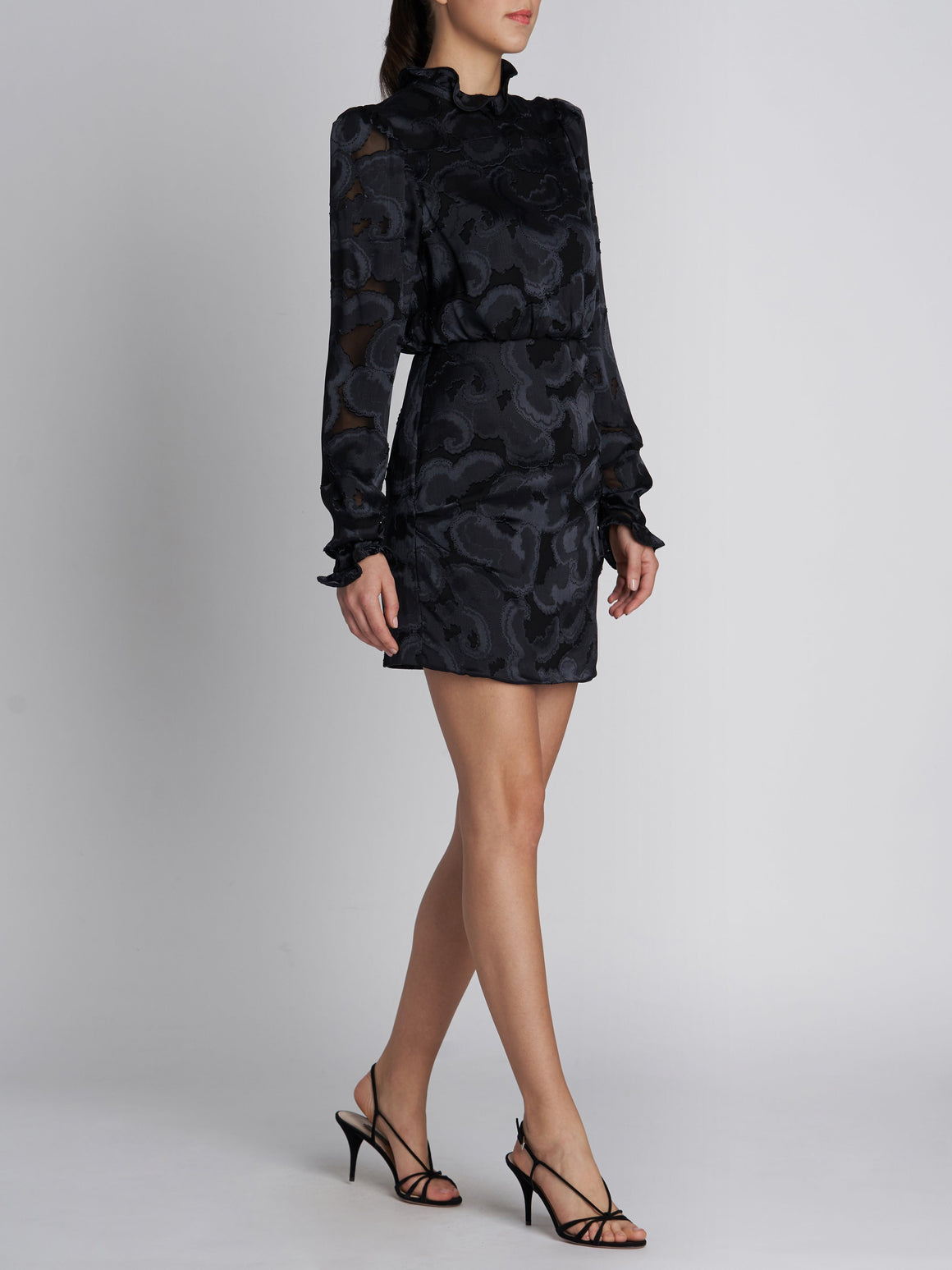 RINA B BLACK JACQUARD DRESS