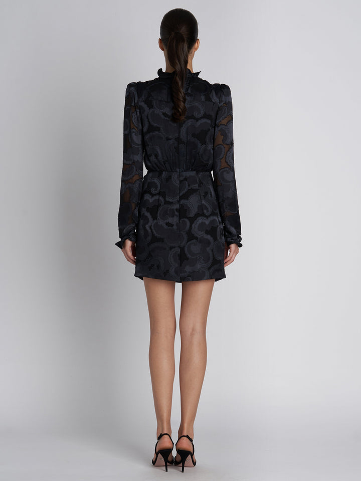 Load image into Gallery viewer, Rina B Black Jacquard Dress