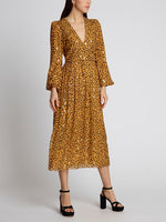 Venyx Camille B Gold Camo Leopard Dress
