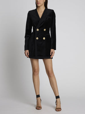 BREE VELVET BLAZER MINI DRESS