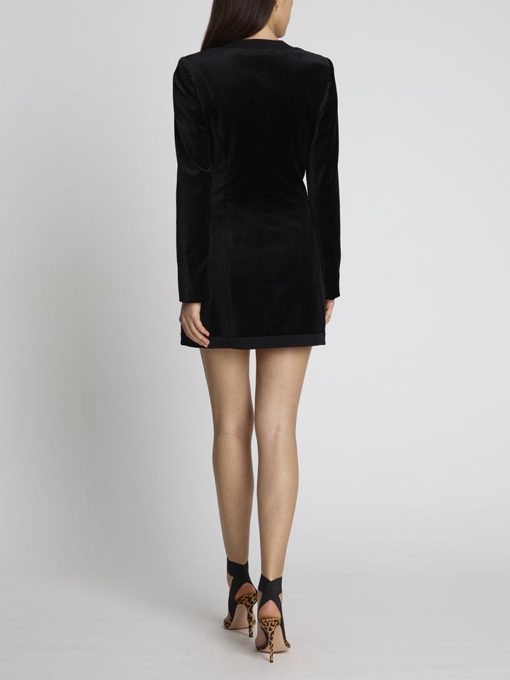 Load image into Gallery viewer, Bree Velvet Blazer Mini Dress
