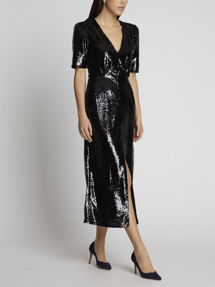 Eden Black Sequin Dress