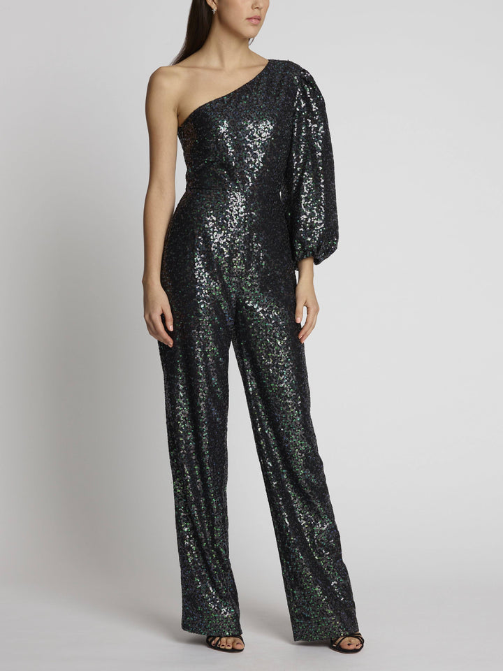 Load image into Gallery viewer, Lily Petrol Jumpsuit